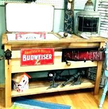 diy wood ice chest plans outdoor wooden cooler cedar cart beverage