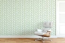 accent wall removable wallpaper for ers weaving braids chevron ilration green and white temporary stick australia temporary wallpaper