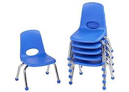 blue school chair. Simple Blue ECR4Kids 10u0026quot School Stack Chair Chrome Legs With Ball Glides Blue 6 In Chair 1
