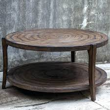 round coffee table rustic coffee table inch rustic round table cozy home design with regard to