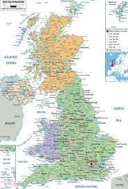 خريطة بريطانيا العظمى - عرض خريطة بريطانيا العظمى (شمال أوروبا - أوروبا)