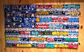 >hand made license plate art by the junk bunk custommade  custom made license plate art