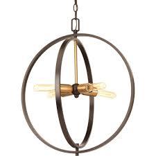 progress lighting swing 4 light antique bronze foyer pendant