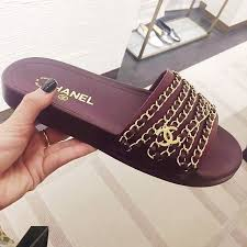 chanel slides. clothes chanel slides a