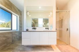 european bathroom vanities. Alcove Shower - Modern Idea In Brisbane With Flat-panel Cabinets And White European Bathroom Vanities R