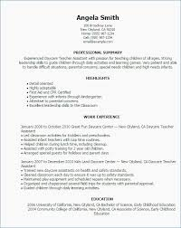 Cover Letter How To Write A Resume For Preschool Teachers