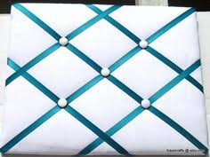 Memo Board With Ribbon FabricPictureBoardWithRibbon But simple solidcolor French 29
