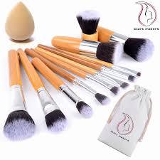 bamboo makeup brushes start makers 11 pieces natural bamboo make up brushes set vegan pro cosmetics kabuki brush makeup brush set extremely soft makeup
