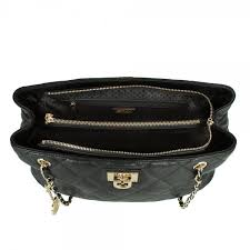 DKNY R3414009 Quilted Black Leather Tote Bag & Black R3414009 Quilted Leather Women's Tote Bag Adamdwight.com