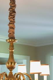 decorating lamp cord covers silk chandelier cover home