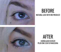 eyelash curler before and after. do you usually use a lash curler? if not have ever tried one? eyelash curler before and after