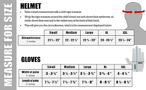 Helmet Size Chart For Dual Sport Helmets From Typhoonhelmets