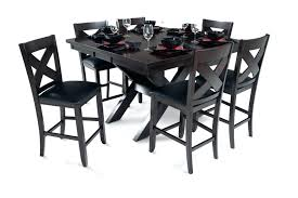 7 piece black dining room set. Black And White Dining Room Set X Factor Counter 7 Piece E