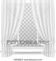 open window with curtains. Plain Curtains Open Window With Curtains On A Transparent Background Vector And Window With Curtains T