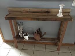 Diy Rustic Pallet Sofa Table Furniture Plans Entryway Regarding