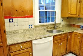 kitchen reno removing our sink our old granite counters