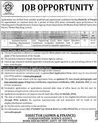 bsc civil engineering jobs in punjab forensic science agency  bsc civil engineering jobs in punjab forensic science agency 22 2016