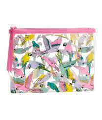 makeup bag parrot print makeup bag 3 95 hm