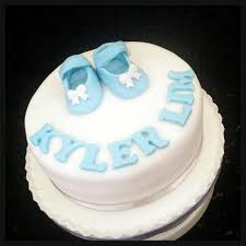 Baby Shower Cake Full Month First Birthday Customized Fondant Shoe