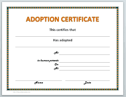 microsoft office certificate template template microsoft office gift certificate template pet adoption