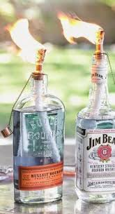 How To Decorate Empty Liquor Bottles DIY Tiki Torch Bottles Tiki torches Torches and Bottle 7