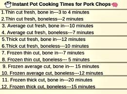 Instant Pot Cooking Times Chart Instant Pot Keto Smothered Pork Chops Beauty And The Foodie