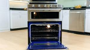 kitchenaid double oven reviews double oven gas range review versatility outweighs uneven kitchenaid double oven kebs209bss reviews