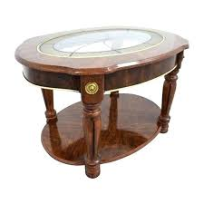 antique round coffee table off vintage small tables wood legs white and end an