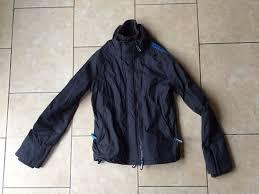 superdry windcheater dark grey windcheater kids jacket with blue trim large mens blue superdry new