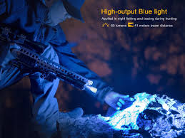 Blue Light Hunting Tk25rb Red Blue White Multi Color Tactical Flashlight 1000