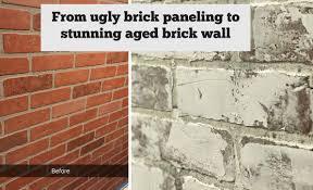 Painting Fake Brick Paneling Faux Brick Wall Created From Brick Paneling Jennifer Decorates