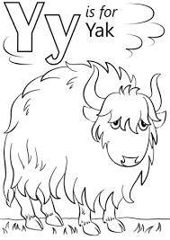 Small Picture Letter Y is for Yak coloring page Free Printable Coloring Pages
