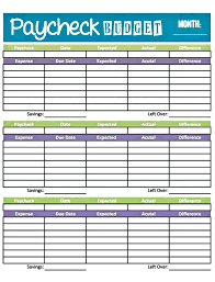 Free Simple Budget Worksheet Template Monthly Excel Spreadsheet ...