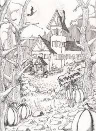 Small Picture Coloring Pages Halloween Coloring Pages Colouring Adult Detailed