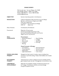 Architecture Resume Example
