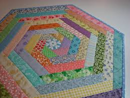 Quilted Table Topper, Easter Spring Table Topper, Pastel Prints ... & Quilted Table Topper, Easter Spring Table Topper, Pastel Prints Hexagon  Table Mat, Quiltsy Handmade Adamdwight.com