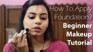 how to apply foundation beginners makeup tutorial