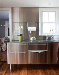 Stainless Steel Kitchen Designs Dark Finished Wooden Floor And Cute Stainless Steel Kitchen Island