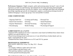 Nanny Resume Without Experience Bongdaao Com Sample Photo Examples