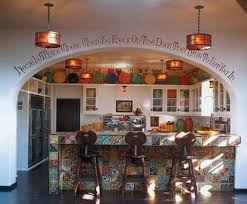 Spanish Style Kitchen Decor Welcoming Spanish Style Kitchen With Decorative Bar Table And
