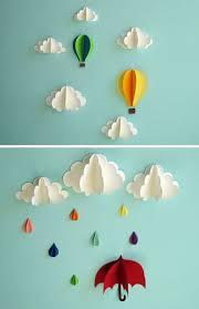 Decorating: Beautiful Diy Paper Wall Art Decoration - DIY