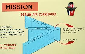 A Chart From The Berlin Air Route Traffic Control Center