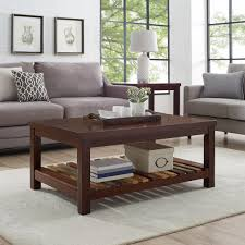 Place a small house (or another accessory) in the back and add one more accessory in the front. Naomi Home Gallaway Accent Coffee Table Accent Grays Finish Black Walmart Com Walmart Com