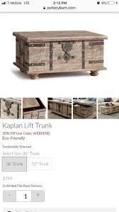 kaplan trunk coffee table pottery barn