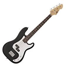 la short scale bass guitar by gear4 black