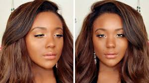 prom makeup tutorial natural bronze glam look full face talk through tutorial you