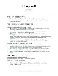 Resume Objective Examples Customer Service Everything Of Letter Sample