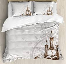 details about nautical ocean duvet cover set twin queen king sizes with pillow shams