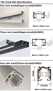track lighting rails. 1M Led Track Light Rail 3 Wire Lighting Fixture For Lights  Universal Rails Track Lighting Rails