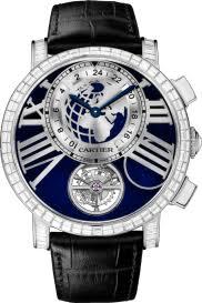diamond men s watches rotonde de cartier earth and moon watch
